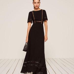 NWT reformation patchouli dress in black